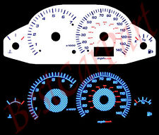 BLUE 00-04 Ford Focus Carbon WHITE FACE REVERSE INDIGLO GLOW GAUGES