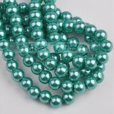 100pcs 6mm Round Glass Pearl Loose Spacer Beads Lot Free Shipping Lake Green