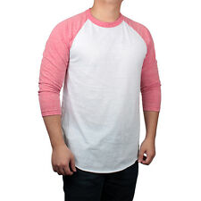 New Premium 3/4 Sleeve Raglan Baseball Tee Men's Plain T-Shirt Team Jersey S-2XL