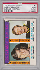 1974 O-PEE-CHEE #2 NHL ASSIST LEADERS PSA 9 (OC) MINT w/ Bobby ORR BRUINS OPC