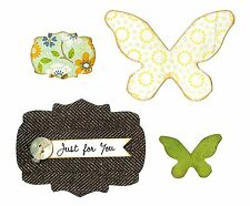 Sizzix Bigz Butterflies & Labels die #658364 Retail $19.99 Retired Cuts Fabric
