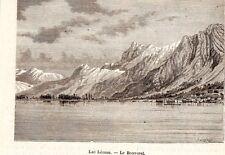 LE BOUVERET LAC LEMAN BATEAU BOAT IMAGE 1880 PRINT