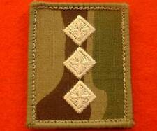 Multicam Captain UBACS Combat Rank Slides Ivory Captain Helmet Rank Patch