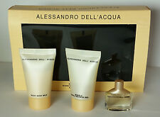 Alessandro Dell'Acqua Lotion Shower Gel Perfume Mini Gift Set NIB