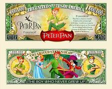 Peter Pan Million Dollar Bill Collectible Funny Money Novelty Note