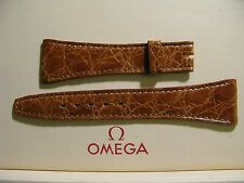 Omega NOS Vintage 22mm Brown Crocodile Strap - VERY RARE - Uses 14mm Buckle