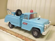 "1964 BUDDY L ""Fix My Flat"" Wrecker Tow Truck Pressed Steel Toy w/ Tools & Spare"