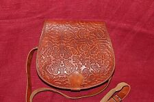 70er 70s Vintage TRUE VTG LEDER TASCHE HIPPIE SCHULTERTASCHE leather satchel bag