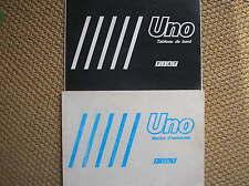 LIBRETTO MANUALE USO MANUTENZIONE FIAT UNO NOTICE ENTRETIEN 1984 TABLEAU DE BORD