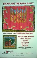 PICNIC ON THE FARM QUILT PATTERN Kids panel to artpiece SHIPS FREE