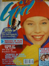 GIRL MAGAZINE 3/1/90 - KYLIE MINOGUE - GUY PEARCE
