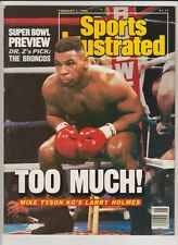 SPORTS ILLUSTRATED MAGAZINE MIKE TYSON BOXING HOFer COVER FEBRUARY 1,1988