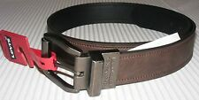 NEW Levi's Men's Size Genuine Black / Brown Leather Belt FLIP BUCKLE #11LV02XL