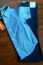 Gymboree Boy's 2T Short Sleeve Button up Woven Dress Pants NEW Tags Attached