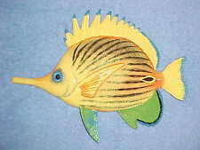 "8"" TROPICAL FISH Wall Decor Bath Beach Nautical Nursery Aquarium Ocean Aquatic"