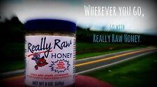 Really Raw Honey 8oz Jar  PK OF 3  FREE PRIORITY MAIL 1 DAY SHIPPING  you'll ❤