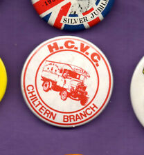 Historic Commercial Vehicles Club - HCVC- Chiltern Branch - Red - Button Badge