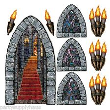 GAME of THRONES Medieval CASTLE STAIRWAY WINDOW TORCH PROPS Party Decorations