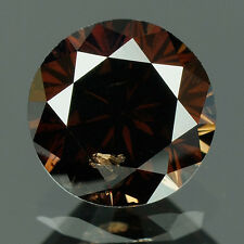 0.64 cts. Certified Round Cut Deep Cognac Brown Color Loose Natural Diamond 7814