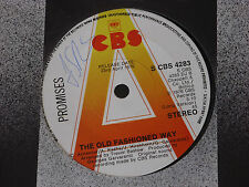 """Promises – The Old Fashioned Way   PROMO  7""""   EX SHOP"""