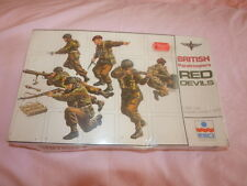 RARE FACTORY SEALED VINTAGE 1970S ESCI BRITISH PARATROOPERS RED DEVILS 1/35.
