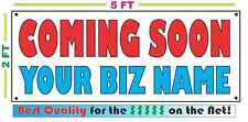 COMING SOON w/ CUSTOM NAME Banner Sign NEW Larger Size Best Price on the Net!