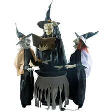 "74.5"" Animated Talking Enchanting Witch Trio - Halloween Prop Yard Decoration"