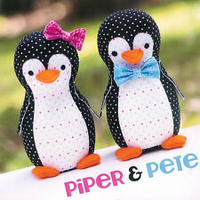 Piper and Pete Penguin Softie SEWING PATTERN - Melly & Me - Toy Cute Boys Girl