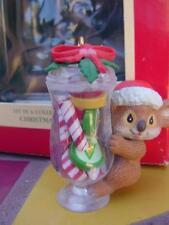 NEW CHRISTMAS SWEETS Carlton #1 Series ORNAMENT Koala Apothecary Candy Jar Mints