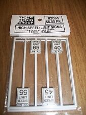 Tichy O Scale #2065 High Speed Limit Signs  8 pack Bob The Train Guy