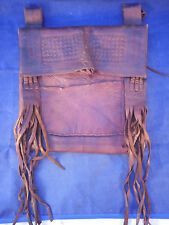 HORSE SADDLE LEATHER DISPATCH POUCH ANTIQUE VINTAGE HAND MADE