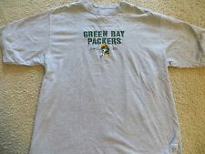 GREEN BAY PACKERS GRIDIRON CLASSIC T-SHIRT Medium M Gray Sewn Logo Rebok
