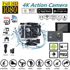 4K Ultra Wifi Sport Action Camera 2.0 Inch DV 1080P HD Cam DVR 30M Waterproof