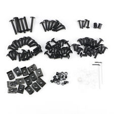 Motorcycle Sportbike Fairing Body Bolts Kit Fastener Clips Screws Black