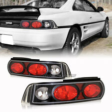 Black Housing Clear Red Lens Altezza Style Tail Light Lamps For 90-99 Toyota MR2
