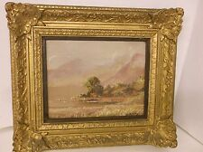 ORIGINAL GEORGE TREVOR WATERCOLOR PAINTING ELAN VALLEY N. WALES GOLD FRAME # 2