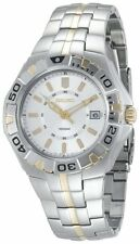 SEIKO DRESS SILVER DIAL DATE TWO-TONE STAINLESS STEEL MEN'S WATCH SGEE56 NEW