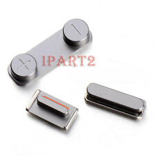 Side Mute Volume Key button Power Key 3 Button Part for Apple iPhone 5S (Silver)