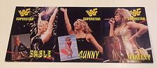 1997 Titan WWF Coliseum Video UNCUT 3 Card DIVA PANEL Promo SABLE SUNNY MARLENA