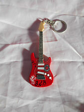 Red Hot Chilli Peppers 10cm Wooden Guitar Key Chain