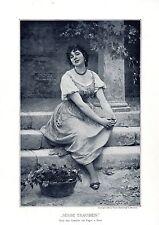 """Eugene von Blaas """"Süsse Trauben"""" Historischer Kunstdruck von 1901"""