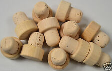 WOODEN T top stopper CORK 19mm dia, bottle bung STRAIGHT QTY 100 wine stop home