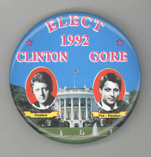 1992 BILL CLINTON Al Gore PRESIDENT Political PIN Button PINBACK Badge JUGATE