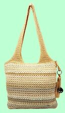 THE SAK Casual Classics Beige Crochet Tote Bag Msrp $84.00