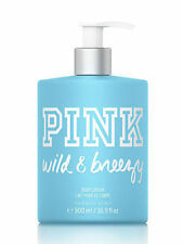 New VICTORIA'S SECRET PINK WILD BREEZY BODY LOTION HAND CREAM PUMP LARGE 16.9 OZ