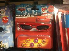 NEW DISNEY PIXAR CARS SUNGLASSES & ICONS FOR DECORATING GLASSES NEW IN PACK