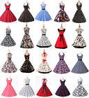 9 STIL Rockabilly 50er Jahre Abendkleid Ohne Petticoat Baumwolle Grösse S-XL