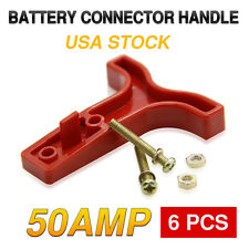 6PCS 6AWG 50AMP SB50 POWER CONNECTOR T-BAR HANDLE FOR ANDERSON PLUG RED