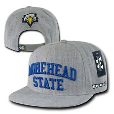 Gray Morehead State University MSU Eagles NCAA Flat Snapback Baseball Hat Cap