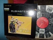SCHUMANN: Carnaval + Fantasiestücke   Rubinstein / RGA Dynagroove USA LP NM